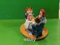 Wee Forest Folk. Tea for Three. Red white and blue. Retired and limited