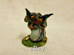 Wee Forest Folk The Plight Of The Broken Broom Halloween LE m-069a Retired Mouse