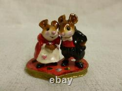 Wee Forest Folk The Valentine Wee Family Limited Edition M-259b Mouse Retired