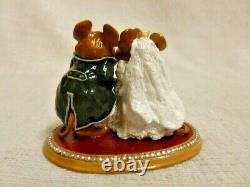 Wee Forest Folk The Wedding Pair Special Edition White M-200 Retired Mouse Bride