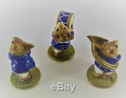 Wee Forest Folk Trumpeter-Drummer-Tuba Player #M153abc Retired / Brand NEW