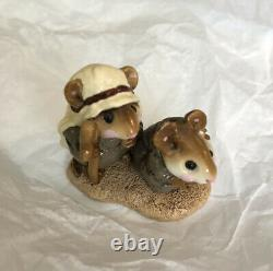 Wee Forest Folk WFF M-122 Pageant Shepherds Retired Rare Annette Peterson