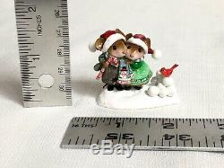 Wee Forest Folk WFF M-456a Christmas Couple Cardinal RETIRED W. Petersen WP 2018