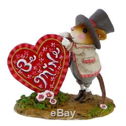 Wee Forest Folk WILL YOU BE MINE, WFF# M-424a, Retired LTD Valentine Mouse