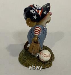 Wee Forest Folk Wee Leaguer Limited RWB Baseball Hotdog USA Retired