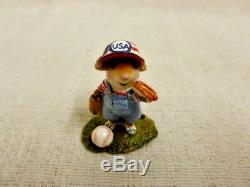 Wee Forest Folk Wee Leaguer Special Edition M-445a Mouse Baseball Retired