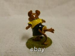 Wee Forest Folk What A Kicker Special Edition MS-23 Black Soccer Mouse Retired