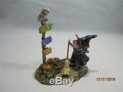 Wee Forest Folk Which Way Witch Retired Halloween New In WFF Box