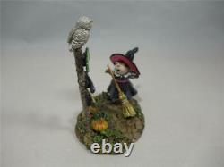 Wee Forest Folk Which Way Witch Retired Halloween WFF New in Box