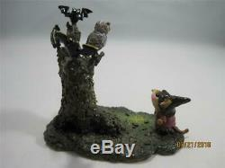 Wee Forest Folk Whooo Goes There Retired Halloween WFF In Box