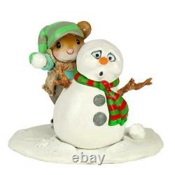 Wee Forest Folk Winter M-597a Snowball Fright (RETIRED)