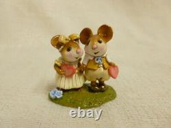 Wee Forest Folk Young Love Special Edition Yellow M-331 Retired Mouse Figurine