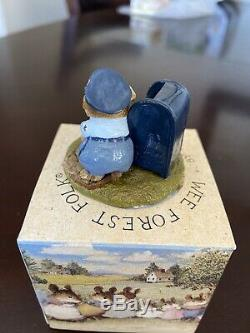 Wee Forest Folk mouse LTD-1 Postmouster retired 1984 Signed William Peterson