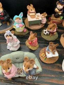 Wee Forest Folk set of 15 collectible pieces (a few of them are retired)